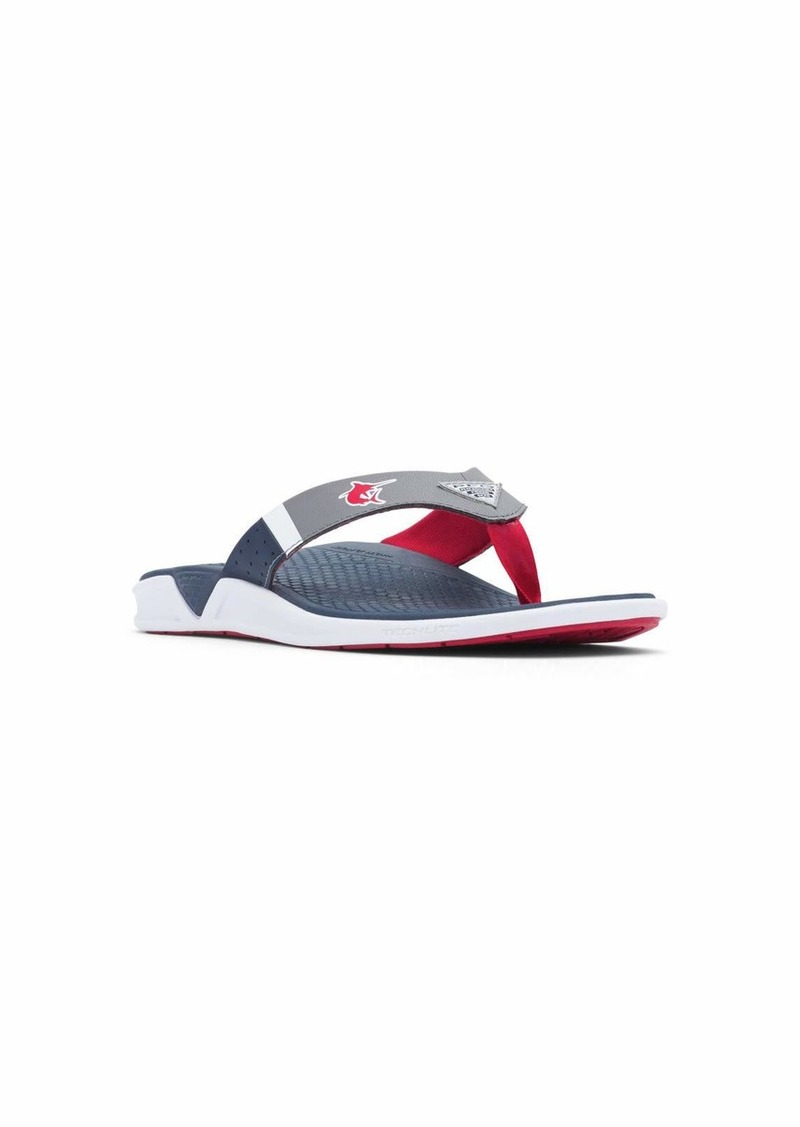 Columbia PFG Men's Rostra PFG Flip-Flop Collegiate Navy/Intense red  Regular US