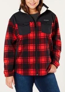 Columbia Plus Size Benton Springs Plaid Fleece Jacket