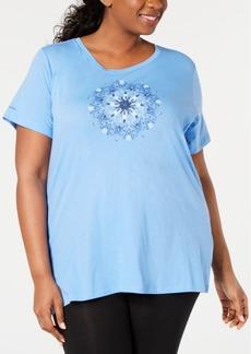 Columbia Plus Size Graphic-Print Active T-Shirt