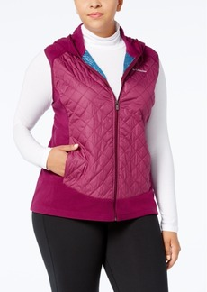 Columbia Plus Size Warmer Days Quilted Hooded Vest