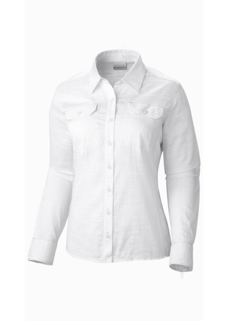 Columbia columbia sportswear camp henry solid shirt for Women s long sleeve camp shirts