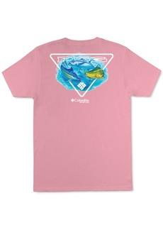 Columbia Sportswear Men's Performance Fishing Gear Multi Fish Graphic T-Shirt