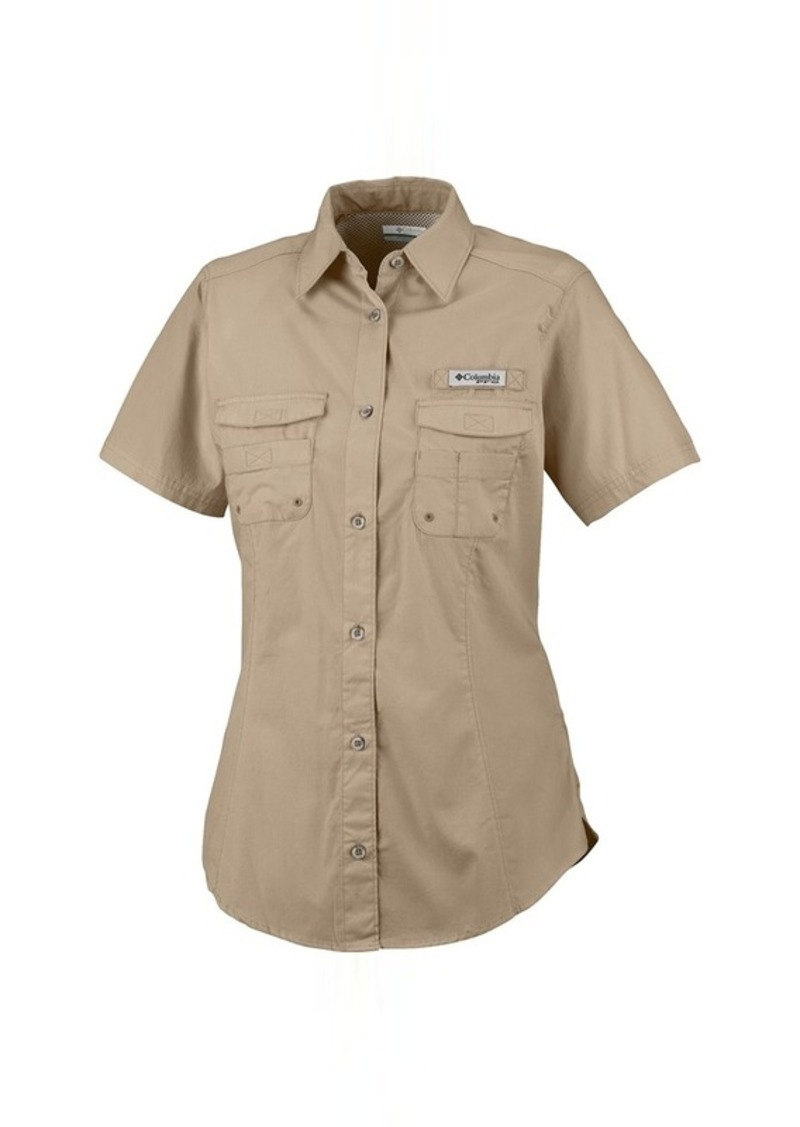 Columbia columbia sportswear pfg bonehead shirt short for Columbia shirts womens pfg