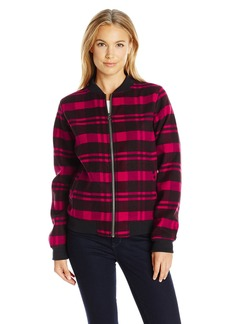 Columbia Women's Alpine Plaid Bomber Jacket Red Lily