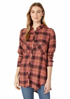 Columbia Women's Always Adventure Long Sleeve Shirt Rose dust Plaid M