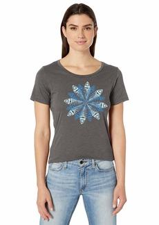 Columbia Women's Anytime Short Sleeve Tee Charcoal Heather/Snowflake
