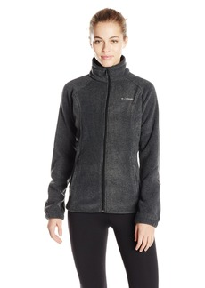 Columbia Women's Benton Springs Classic Fit Full Zip Soft Fleece Jacket charcoal heather S