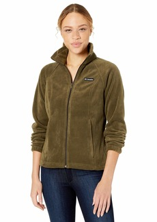 Columbia Women's Benton Springs Full Zip Jacket Soft Fleece with Classic Fit  Petite Large