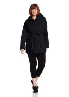 Columbia Women's Plus-size Pardon My Trench Plus Size Rain Jacket Outerwear -black 3X