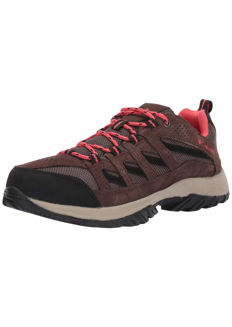 Columbia Women's Crestwood Hiking Shoe mud red Coral  Regular US