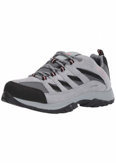Columbia Women's Crestwood Waterproof Hiking Shoe Grey ash Salmon Rose  Regular US