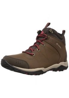 Columbia Women's FIRE Venture MID Leather Waterproof Hiking Boot Autumn Bronze Sunset red  Regular US