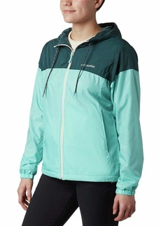 Columbia Women's Flash Forward Lined Windbreaker Aquarium/Dark seas