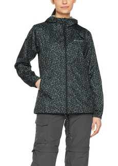 Columbia Women's Flash Forward Printed Windbreaker Black S18 M