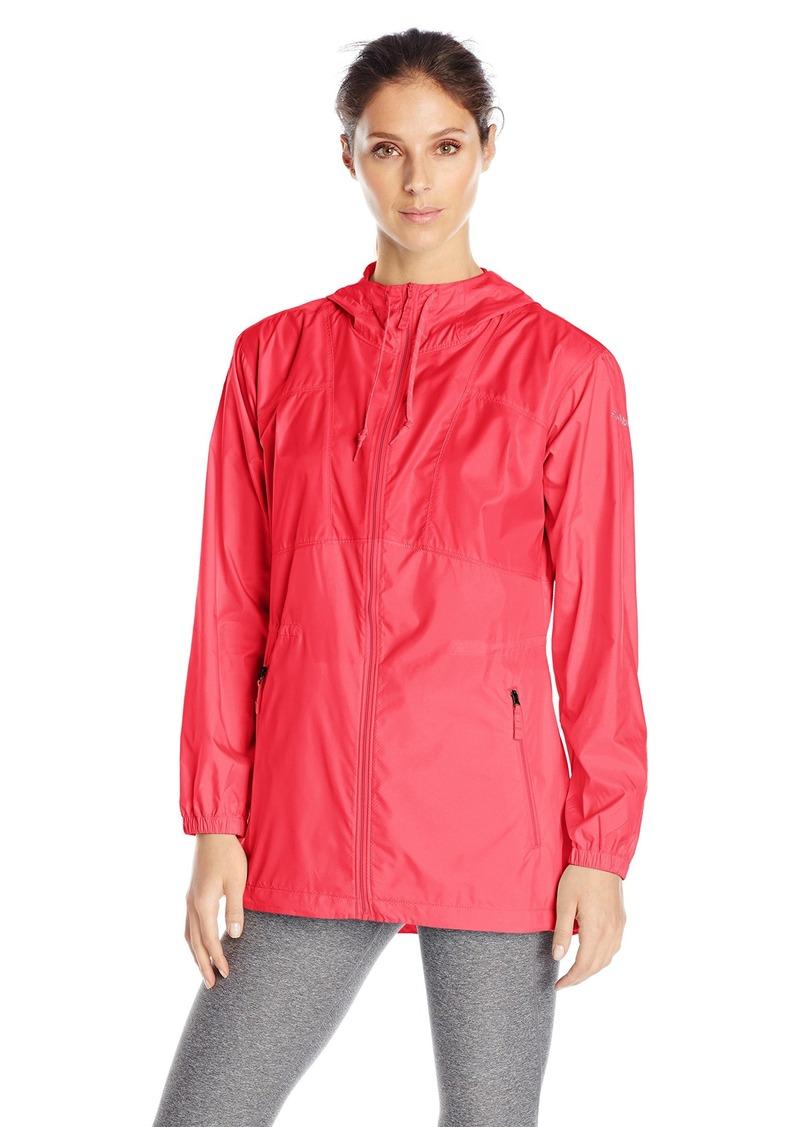 Columbia Women's Flashback Long Windbreaker Jacket red Camellia XL