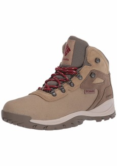 Columbia Women's Newton Ridge Lightweight Waterproof Shoe Hiking Boot Beach/Marsala red
