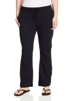 Columbia Women's Plus-size Anytime Outdoor Plus Size Boot Cut Pant Pants -black xR