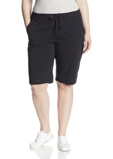 Columbia Women's Plus-size Anytime Outdoor Plus Size Long Short Shorts black 24Wx13