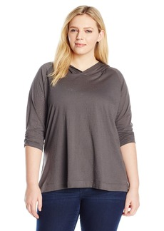 Columbia Women's Plus Size See Through You Burnout Hoodie Grill