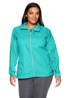 Columbia Women's Plus Size Switchback III Adjustable Waterproof Rain Jacket  2X