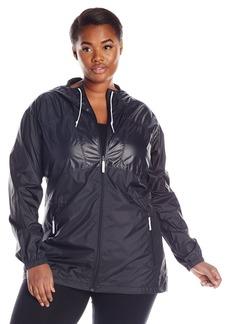 Columbia Women's Plus-size Flashback Plus Size Windbreaker Long Outerwear black