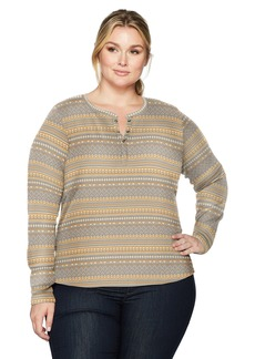 Columbia Women's Plus Sizeaspen Lodge Jacquard Henley Size