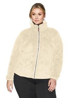 Columbia Women's Plus Sizefire Side Sherpa Full Zip Size Fire Jacket chalk