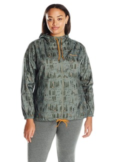 Columbia Women's Plus Sizeflash Forward Printed Windbreaker Size Flash Jacket
