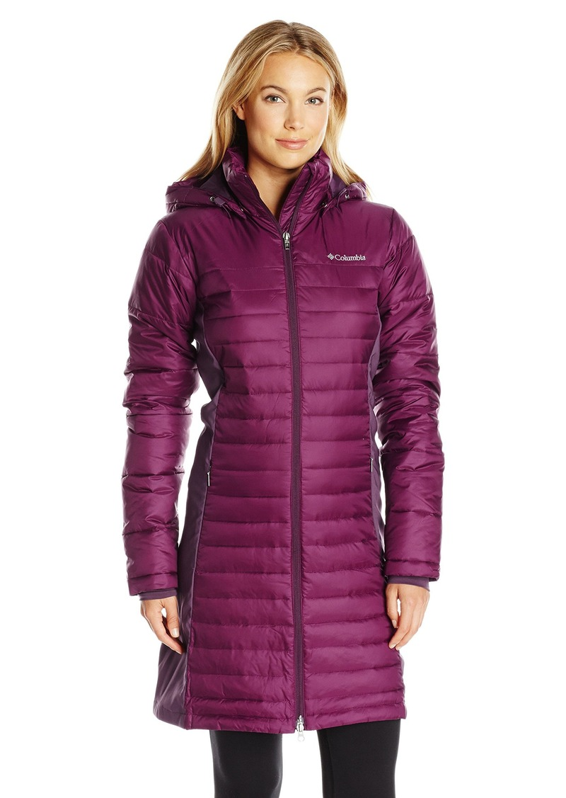 Columbia Columbia Women S Powder Pillow Hybrid Long Jacket