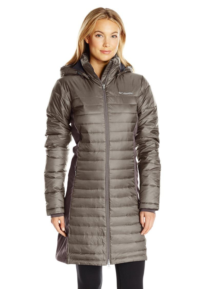 Columbia Columbia Women S Powder Pillow Hybrid Long Jacket