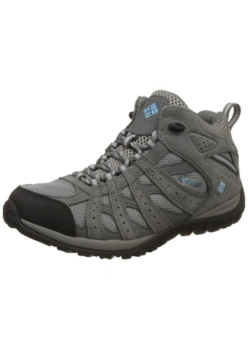 e11107e985a Columbia Women's Redmond Mid Waterproof Trail Shoe Light Grey/Sky Blue