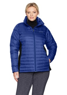 Columbia Women's SizePowder Plus Size Powder Pillow Hybrid Jacket Dynasty/Black