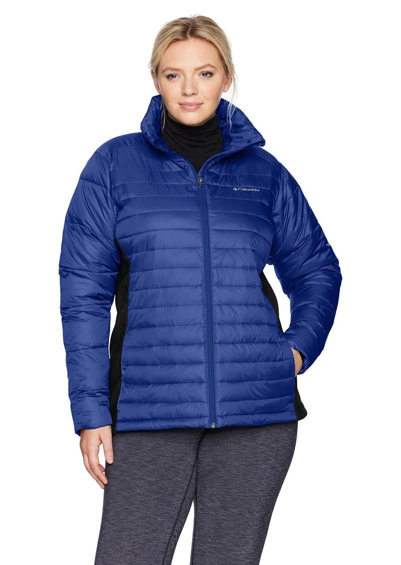 Columbia Women's SizePowder Plus Size Powder Pillow Hybrid Jacket Dynasty/Black