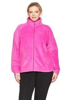 Columbia Women's SizeTested Fz Plus Size Tested Tough in Pink Benton Springs Full Zip Jacket Ice