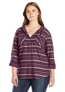 Columbia Women's SizeTimes Ls Plus Size Times Two Hooded Long Sleeve Shirt