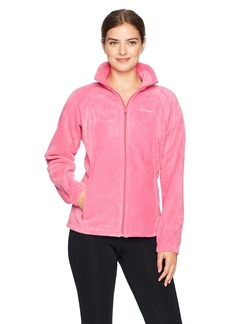 Columbia Women's Tested Tough in Pink Benton Springs Full Zip Jacket Ice XL