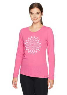 Columbia Women's Tested Tough in Pink Medallion Long Sleeve Shirt  XS