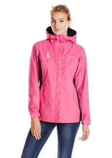 Columbia Women's Tested Tough in Pink Rain Jacket Ii  L