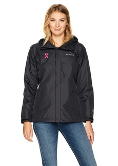 Columbia Women's Tested Tough In Pink Rain Jacket II  L