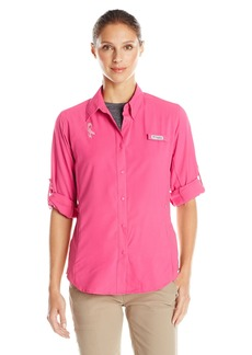Columbia Women's Tested Tough in Pink Tamiami Long Sleeve Shirt Ice
