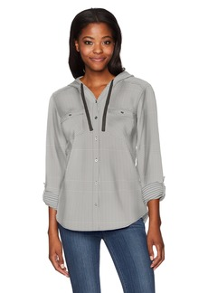 Columbia Women's Times Two Hooded Long Sleeve Shirt  S