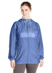 Columbia Women's Ws Plus Size Flashback Long Windbreaker Jacket