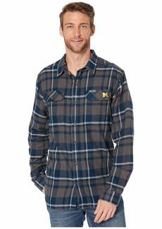 Columbia Michigan Wolverines Collegiate Flare Gun™ Flannel Long Sleeve Shirt