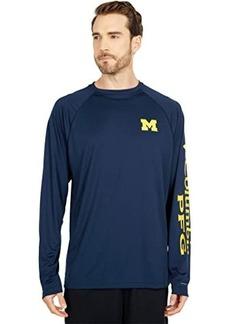 Columbia Michigan Wolverines Terminal Tackle™ Long Sleeve Shirt