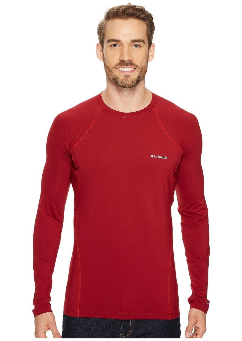 Columbia Men Midweight Stretch Long Sleeve Baselayer Half Zip Shirt Top Beet