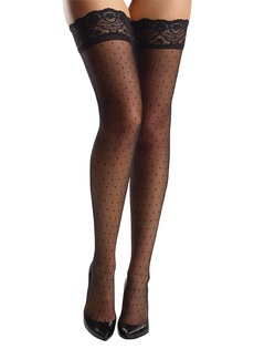 Commando Dot Thigh High Stockings