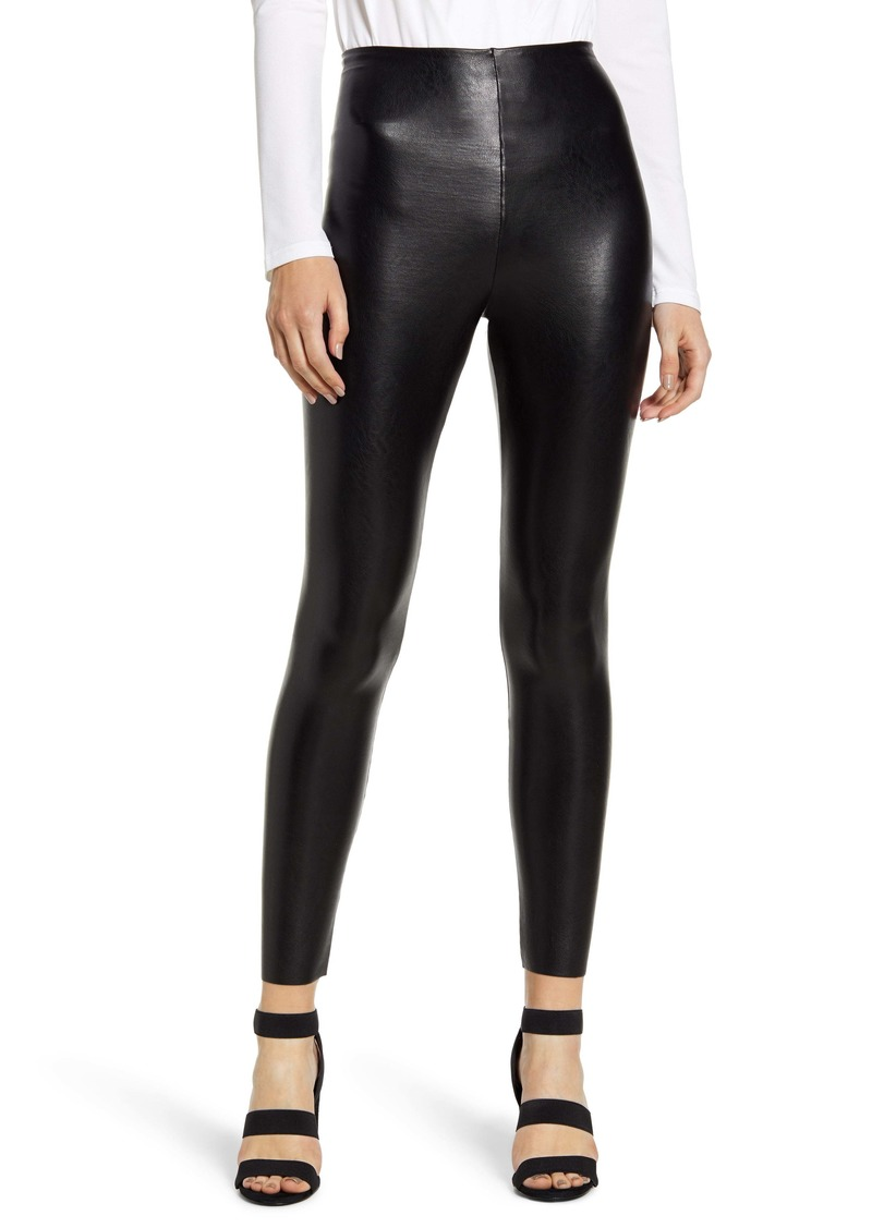 Commando Faux Leather Control Ankle Leggings