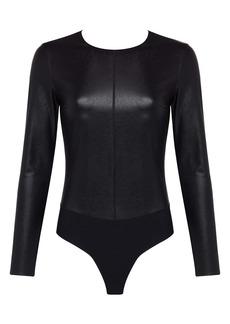 Commando Faux Leather Long Sleeve Bodysuit