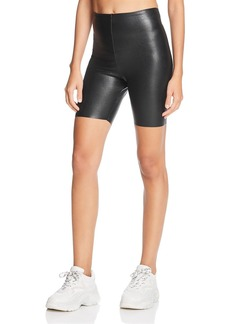 Commando Perfect Control Faux-Leather Bike Shorts