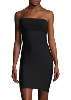 Commando Two-Faced Tech Strapless Slip Dress